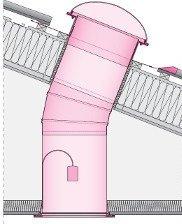 Rohr-Bogen Fakro SRK Zubehör für Fakro Tageslicht-Spots www.house-4u.eu