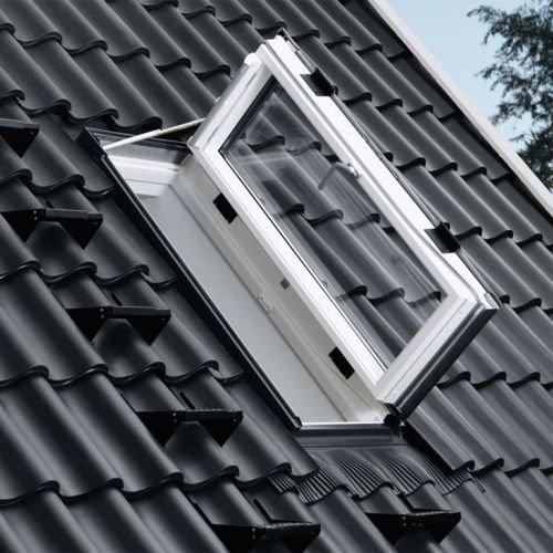 VELUX Ausstiegsfenster GXU 0066 Türfunktion Kunststoff ENERGIE PLUS Wohn-/Ausstiegsfenster Aluminium Dachausstieg für ausgebaute Dachböden