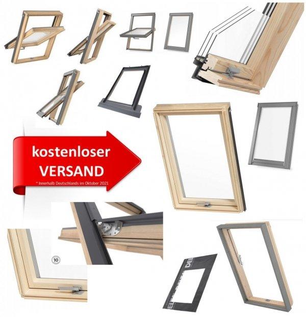 Kostenlose Lieferung bei Bestellung von Rooflite TRIO Dachfenster Innerhalb Deutschlands im Oktober 2021