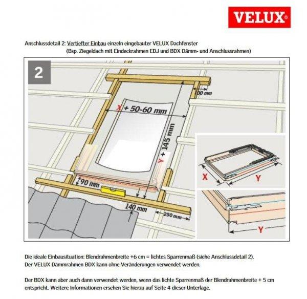 Dampfsperrschürze Velux BBX / Dämm- und Anschlussprodukte www.house-4u.eu