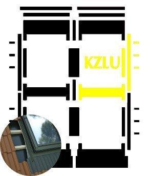 Kombi-Eindeckrahmen Okpol KZLH für flache hochprofilierte eindeckmaterialen www.house-4u.eu