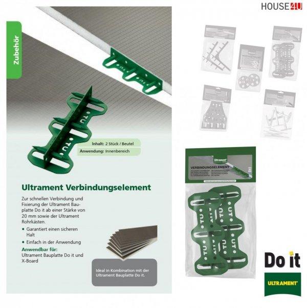 Verbindungselement Ultrament Do-it Zur schnellen Verbindung und Fixierung der Bauplatte - Do it ab einer Stärke von 20 mm sowie der Ultrament Rohrkästen, X-Board, Bauplatte Flexplatte Qboard Fliesenbauplatte