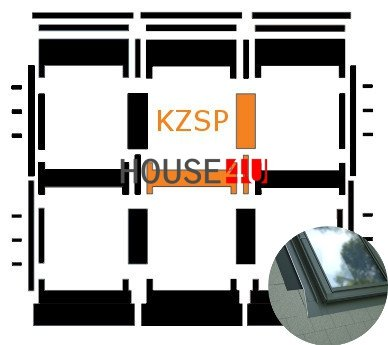 Kombi-Eindeckrahmen Okpol KZSP für Flache Eindeckmaterialen www.house-4u.eu