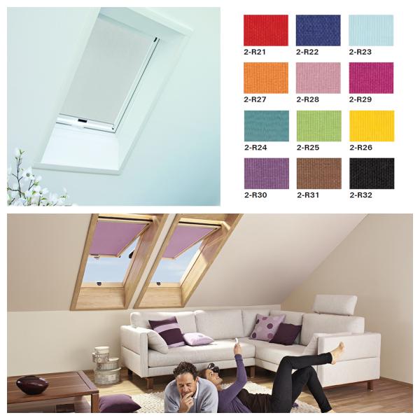 Rollo Roto Exclusiv für Designo Dachfenster R64-R69P/R84-R89P/i85-i89P Preisgruppe 2