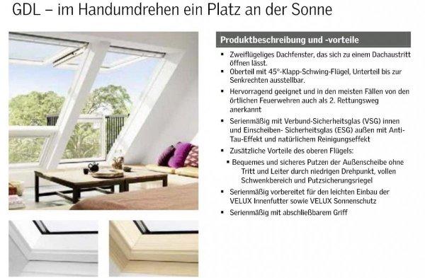 VELUX GDL Cabrio 2066 Holz/Kiefer weiß lackiert ENERGIE PLUS www.house-4u.eu
