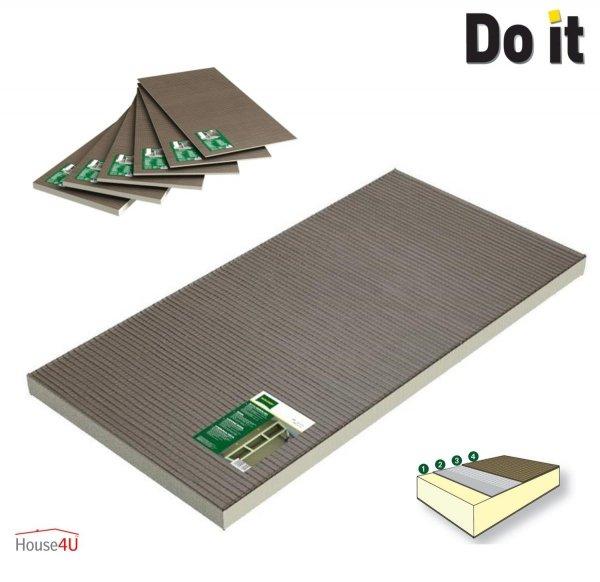 Bauplatte Ultrament Do-it 120 x 60 cm Stärke: 6 mmTrockenbau XPS Wedi byggeplade Kreativbauplatte