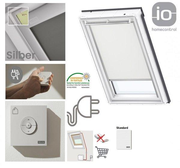 VELUX DML Standard INTEGRA® Elektro-Verdunkelungsrollo für VELUX Dachfenster, Pick&Click ®-Systems, dreilagigen Oeko-Tex®-Stoff _ house-4u.de
