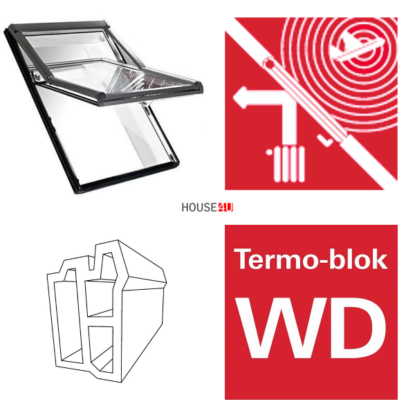 Dachfenster Roto Designo R66E K Schwingfenster aus Kunststoff acusticLine Plus mit Wärmedämmblock www.house-4u.eu