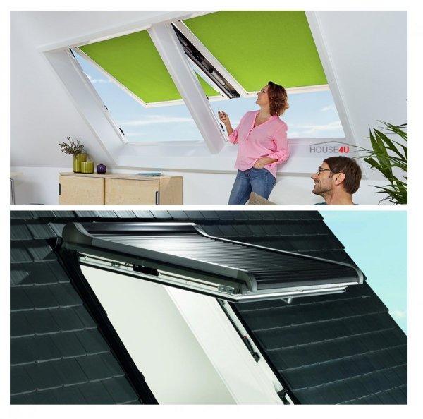 Dachfenster Roto i88C K2EF (WDC i88C K WD EF) Elektrofenster Klapp-Schwingfenster Comfort aus Kunststoff mit Wärmedämmblock Uw=1,1 alternative für R85 Verbundsicherheitsglas innen VSG, 2-fach-Verglasung BlueLine Comfort