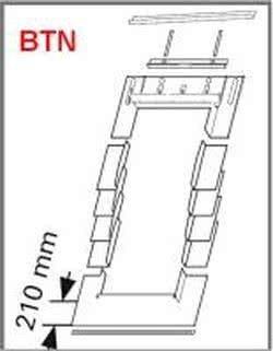 Eindeckrahmen Roto BTG Rx200 (EDR BTN+WD) für bitumenschindel mit WD