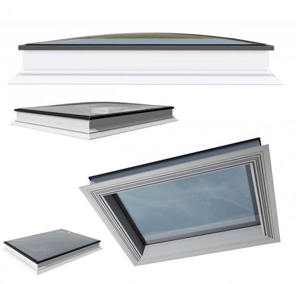 Festverglastes Flachdach-Fenster OKPOL PGX B6 Spherline