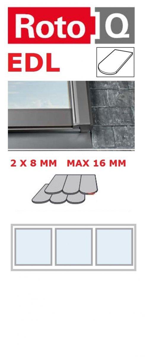 Kombi-Eindeckrahmen Roto Q-4 EDL 3/1 Eindeckrahmen für Flach erstreckt bis zu 1,6 cm www.house-4u.eu