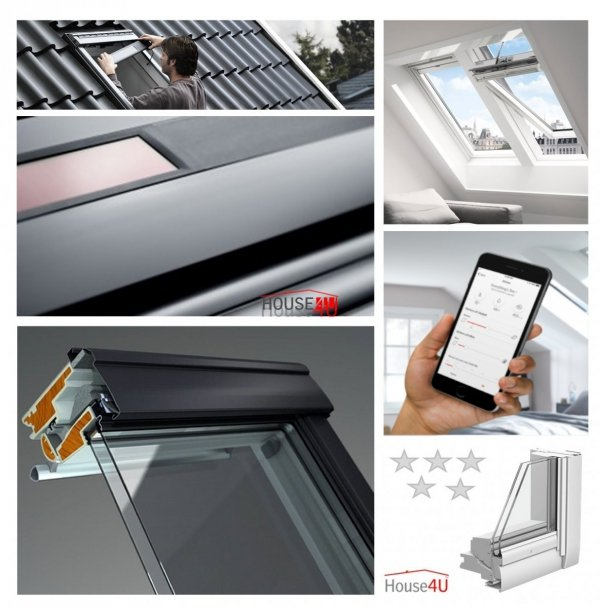 VELUX Dachfenster Solarfenster GGU 006030 INTEGRA ® Kunststoff THERMO PLUS