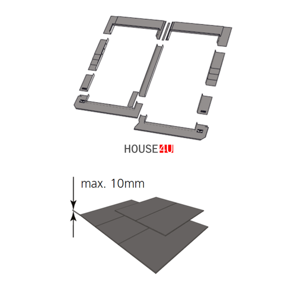 Kombi-Eindeckrahmen keylite CSRF Schiefer(|}1,5 cm) www.house-4u.de