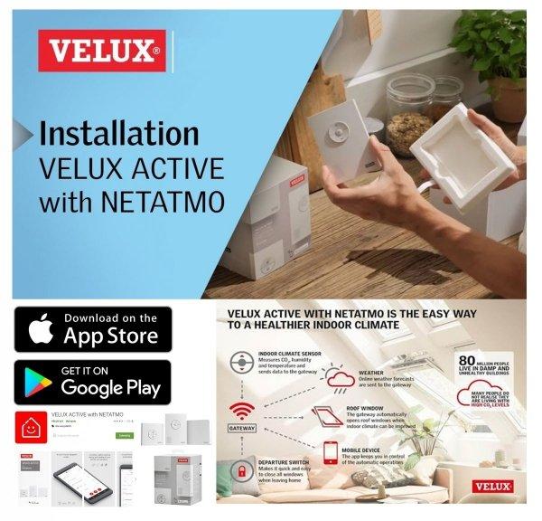 VELUX Solar-Rollladen SST 0000 Aluminium dunkelgrau VELUX INTEGRA® Solar-Rollladen SST für Wohn- und Ausstiegsfenster (GTU/GTL