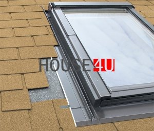 Eindeckrahmen Fakro ESVT Thermo für flache, dünne Eindeckmaterialien www.house-4u.eu