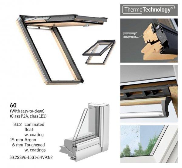 Dachfenster Velux GPL 3060 5-STAR das Holzfenster mit dem Riesen-Öffnungswinkel www.house-4u.eu