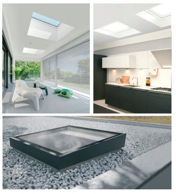 Flachdach-Fenster FAKRO DMZ-A TYP Z Glas mit der Neigung U=0,95 W/m²K * manuelle Steuerung NEU 2019
