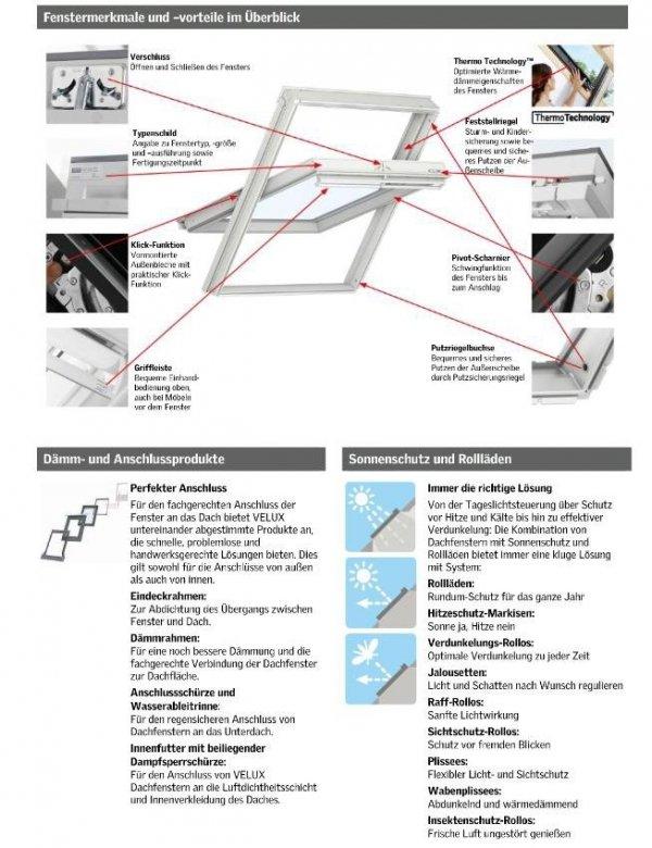 VELUX INTEGRA Dachfenster GGU 006821 Elektrofenster Kunststoff Schwingfenster 3-fach-Verglasung Uw= 1,1 ENERGIE Aluminium Aluminium io-homecontrol®