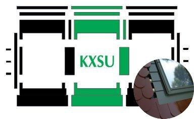 Kombi-Eindeckrahmen Okpol KXSLH für hohe Biberschwanzeindeckungen www.house-4u.eu