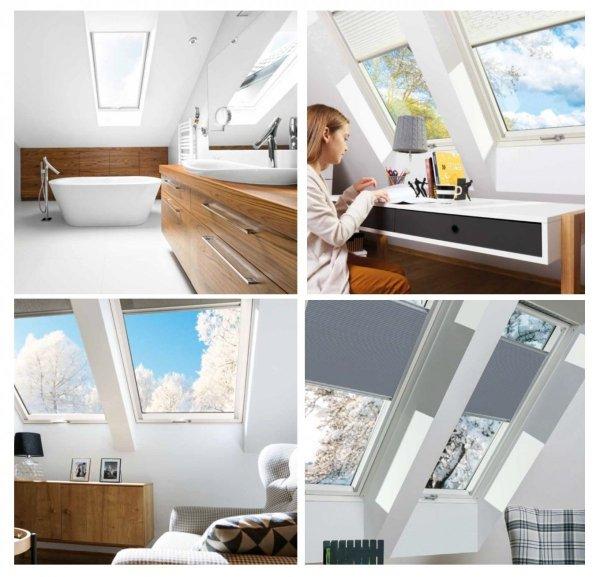 Dachfenster Fakro PTP U4 3-fach-Verglasung Schwingfenster Energiesparende Uw=1,1 Ug=0,7 W/m²K weiße,  innen mit verzinktem Stahlkern verstärkte Kunststoffprofile PVC Ohne Dauerlüftung