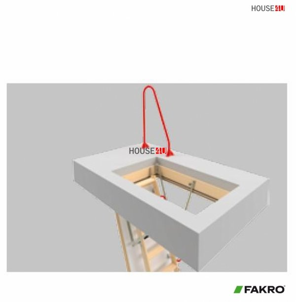 Bodentreppengriff Fakro LXH-A Metallgriff, am Boden montiert