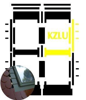 Kombi-Eindeckrahmen Okpol KZLLLH für hohe Biberschwanzeindeckungen www.house-4u.eu