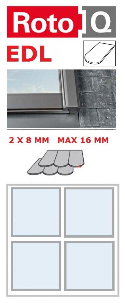 Kombi-Eindeckrahmen Roto Q-4 EDL 2/2 Eindeckrahmen für Flach erstreckt bis zu 1,6 cm www.house-4u.eu