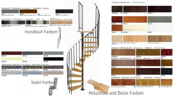 Treppen Atrium Mini Weißaluminium 11 Stufen Natürliche Erle modular Systemtreppen