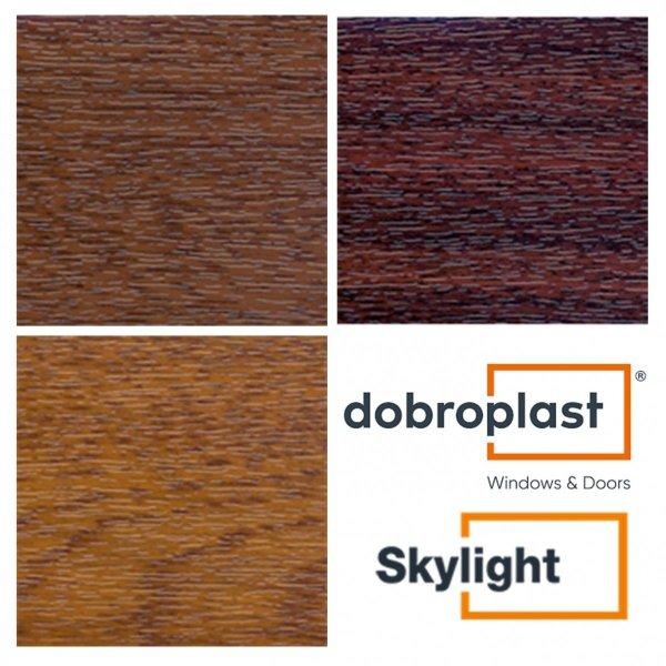 Dachfenster DOBROPLAST PCV SKYLIGHT Schwingfenster Kunststoff - Profil PVC Weiß Uw= 1,4 Dachschwingfenster 2-fach Verglasung 7043 8019 RAL Boden-Griff