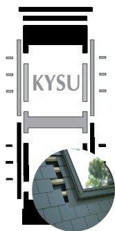 Kombi-Eindeckrahmen Okpol KYSL für flache Biberschwanzeindeckungen www.house-4u.eu