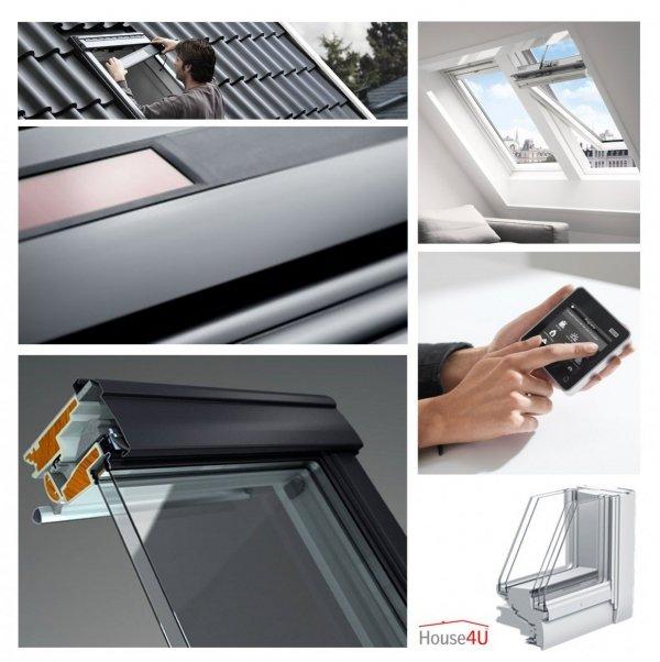 Dachfenster Solarfenster VELUX INTEGRA ® Kunststoff GGU 008230 Passivhaus Aluminium www.house-4u.eu