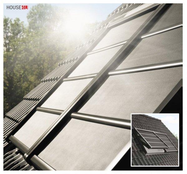 VELUX INTEGRA® SSS 0000S Solar Hitzeschutz-Markise Verdunkelung, Wetterbeständiges, Alu-Lamellen mit stabilisierenden  https://house-4u.de/