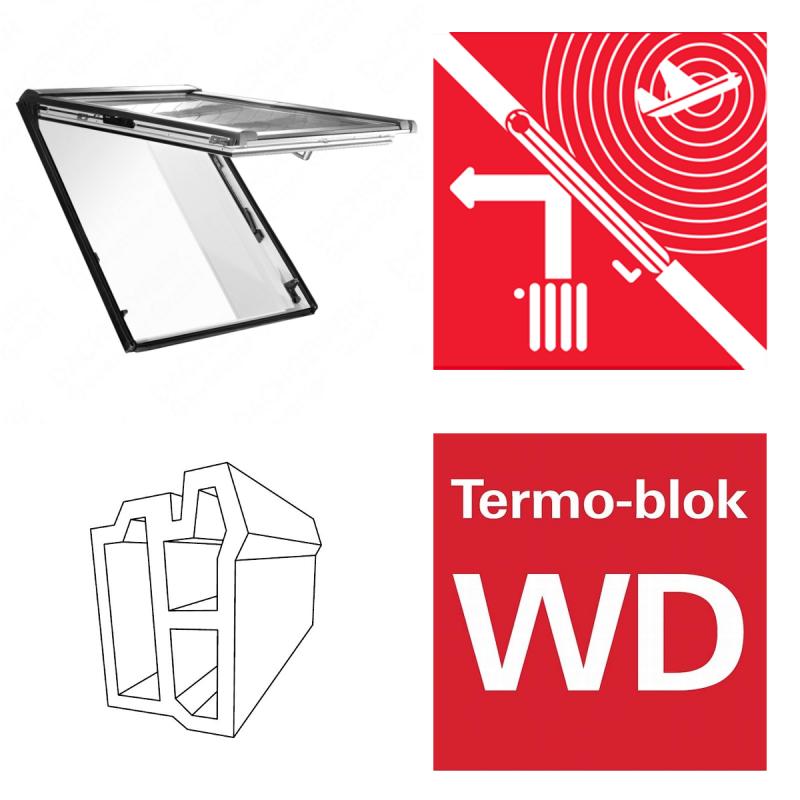 Dachfenster roto designo wdf r86e k wd klapp for Kunststoff schiebefenster
