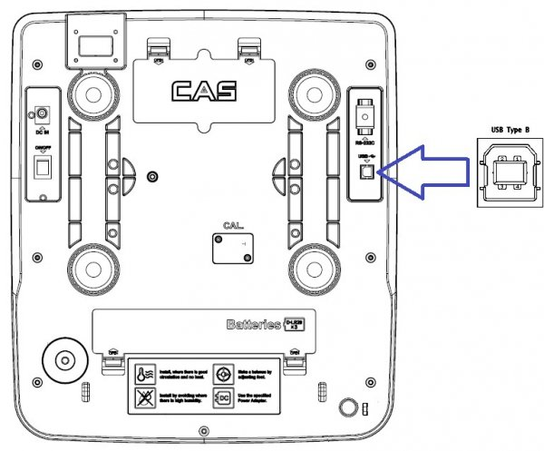 Waga CAS PR-II (PR-2) 15P USB