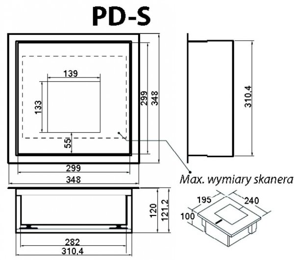 Wagoskaner: Datalogic Magellan 2300HS + CAS PDS/NT 15  (używane)