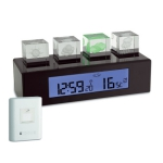 TFA 35.1110 CRYSTAL CUBE stacja pogody bezprzewodowa z czujnikiem zewnętrznym kryształy LED