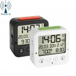 Budzik biurkowy TFA 60.2528 BINGO zegarek elektroniczny z termometrem