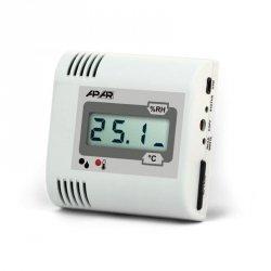 APAR AR236 rejestrator temperatury i wilgotności przemysłowy termohigrometr wewnętrzny naścienny LCD