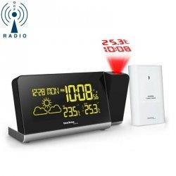 Stacja pogody bezprzewodowa TechnoLine WT 539 z czujnikiem zewnętrznym budzik z projektorem