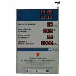 Tablica informacyjna pomiarowa LED wyświetlacz meteorologiczny synoptyczny