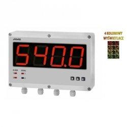 Miernik uniwersalny dwukanałowy temperatury i sygnałów analogowych APAR AR540 wyświetlacz 57 mm naścienny 222 x145 mm wyjście analogowe Modbus RTU