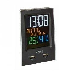Termohigrometr elektroniczny TFA 60.2537 wewnętrzny z ładowarkąUSB