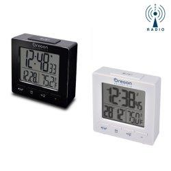 Budzik biurkowy Oregon RM511 zegar elektroniczny sterowany radiowo z termometrem
