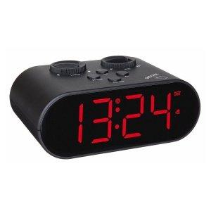 TFA 60.2551 Ellypse budzik biurkowy zegar elektroniczny sterowany radiowo z portem do ładowania urządzeń mobilnych