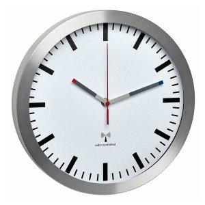 TFA 60.3528 zegar ścienny wskazówkowy sterowany radiowo płynąca wskazówka aluminium szkło średnica 30 cm