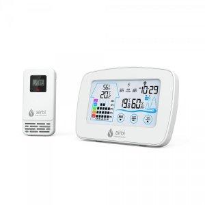 Airbi CONTROL termohigrometr bezprzewodowy z czujnikiem zewnętrznymi