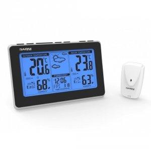 Garni 550 EASY stacja pogody bezprzewodowa  z czujnikiem zewnętrznym temperatury i wilgotności i portem USB do ładowania