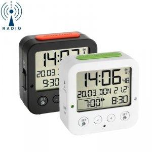 TFA 60.2528 BINGO budzik biurkowy zegarek elektroniczny z termometrem