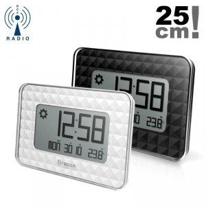 Oregon JW208 zegar ścienny stacja pogody elektroniczny LCD sterowany radiowo z termometrem.